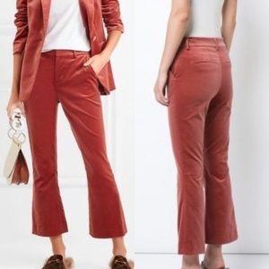 NEW Frame Le Velvet Cropped Flare Orange Pants